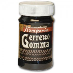 "Паста с эффектом резины ""Effetto Gomma"" чёрная, K3P34A, Stamperia, 100 мл"