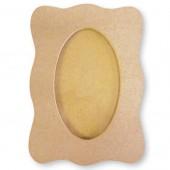 Рамка KF107G для фото фигурная со стеклом, МДФ, Stamperia, 18 x 26 cм