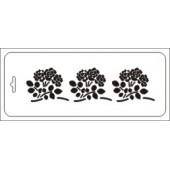 """Трафарет Тиб-цв-053 """"Розы в букетиках"""" бордюр, Event Design, 10х25 см"""