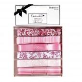 """Ленты декоративные PMA367120 """"Parkstone Pink"""" DOCRAFTS, 6 лент по 1 м"""