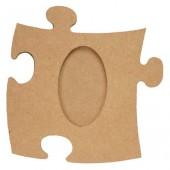 "Рамка-пазл ""Овал"" для фото, 12х12 см, МДФ, PRONTY, арт. 461.254.000"