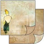 Бумага для скрапбукинга двухсторонняя Stamperia, 31,2х30,3 см, SBB125, Аромат женщины