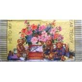 """Салфетка для декупажа """"Мишки Teddy"""" бумажная, 33х33 см, N-05, на фото 1/2 салфетки"""