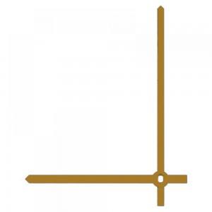 Стрелки 010 gold для часового механизма Hermle W2100 - золотые, металл, длина - 103/80 мм