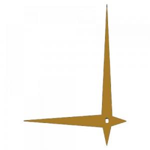 Стрелки 114 gold для часового механизма Hermle W2100 - золотые, металл, длина 12/80 мм