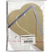 Декоративное паспарту, сердце большое серое, 19,5х14,5 см, арт. 508-0004