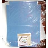 Декоративная вставка большая в стандартную рамку для оформления объёмных работ, бирюзовая, 30х21 см, арт. 003-0025