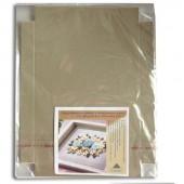 Декоративная вставка большая в стандартную рамку для оформления объёмных работ, серая, 30х21 см, арт. 003-0004