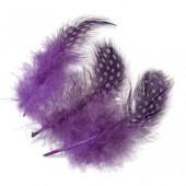 Перья декоративные цесарки 6623310 фиолетовые, перо 5 см, 20 шт., Knorr Prandell