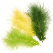 Перья декоративные марабу 6619943 светло-зелёные, перо 9 см, 15 шт., Knorr Prandell