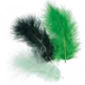 Перья декоративные марабу 6619944 тёмно-зелёные, перо 9 см, 15 шт., Knorr Prandell
