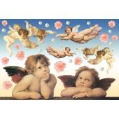 """Бумага рисовая для декупажа Stamperia DFS020 """"Ангелы Рафаэля"""", 48х33 см"""