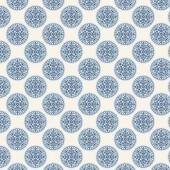 "Ткань Тильда ""Инки, синий"", арт. 0480380, Knorr prandell, 50х70 см, 100% хлопок"