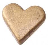 """Заклепки-люверсы """"СЕРДЦА"""", 10х8 мм, 25 шт., металл, цвет: античное золото, арт. 6258760, Knorr prandell"""