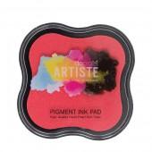 Штемпельная подушка ARTISTE пигментная DOA550107 розовая, DOCRAFTS, 7х7 см