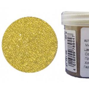 Микробисер прозрачный EFCO 9112109 стеклянный, жёлтый, 0,5 мм, 50 гр.