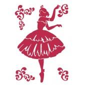 Трафарет Stamperia KSG214 Балерина, 21х29,7 см