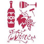Трафарет Stamperia KSG221 Вино, 21х29,7 см