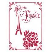 Трафарет Stamperia KSD174 Поездка по Франции, 15х20 см