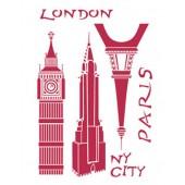 "Трафарет Stamperia KSG247 ""Лондон, Сити, Париж"", 21х29,7 см"