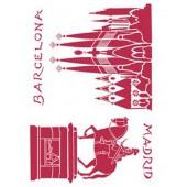"Трафарет Stamperia KSG248 ""Барселона, Мадрид"", 21х29,7 см"