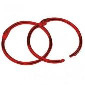 Кольца для скрап-альбомов, 6 шт., цвет: красный, металл, 35 мм, SBA16, Stamperia