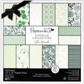 "Набор бумаги для скрапбукинга ""Chelsea Green"" PMA160316, DOCRAFTS, 20,3х20,3 см, 32 листа"