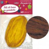 Волосы для изготовления кукол FLPM008, коричневые, 30 гр., шерсть, Stamperia