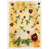"""Рисовая бумага для декупажа Kalit IRP0033 """"Старинная рукопись и розы"""", 32х45 см"""