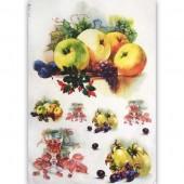 """Рисовая бумага для декупажа Kalit IRP0052 """"Натюрморт с фруктами и розовым вином"""", 32х45 см"""