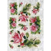 Рисовая бумага для декупажа Kalit IRP0067, 32х45 см, 25 г/м2, Розовые розы