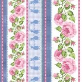 Войлочное полотно с рисунком, 30х30 см, 1 мм, FLSP/ST54 Бордюры из роз, Stamperia
