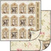 Бумага для скрапбукинга двухсторонняя Stamperia, 31,2х30,3 см, SBB188, Теги с корсетами