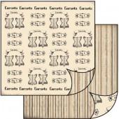 Бумага для скрапбукинга двухсторонняя Stamperia, 31,2х30,3 см, SBB189, Корсеты