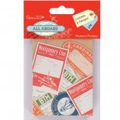 Набор декоративных мини-конвертиков All Aboard, 5 шт., 9х7 см, арт. PMA157191, DOCRAFTS