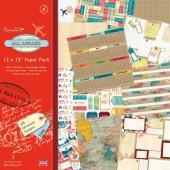 Набор бумаги для скрапбукинга All Aboard - На борту, PMA160144, Docrafts, 32 шт., 15,2х15,2 см, 160 г/м2