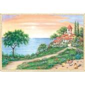 """Бумага рисовая для декупажа Stamperia DFS050 """"Морской пейзаж"""", 48х33 см"""