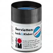 Клей для салфеток и рисовой бумаги Servietten Lack&Kleber 843, матовый, 50 мл, MARABU