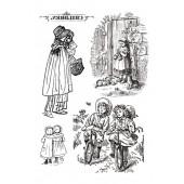 """Переводные изображения """"Transfer"""" DFTR008 Stamperia, 2 шт., А4, Викторианские дети"""