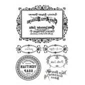 """Переводные изображения """"Transfer"""" DFTR002 Stamperia, 2 шт., А4, 100 г/м2, Рамки и надписи"""