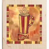 """Штамп резиновый на деревянной основе Janlynn 20115 """"Чашка кофе"""", 6,4х5,7 см"""