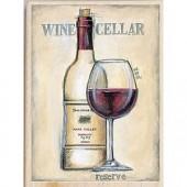"""Штамп резиновый на деревянной основе Janlynn 80427 """"Красное вино"""", 14х10 см"""