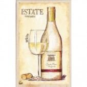 """Штамп резиновый на деревянной основе Janlynn 90435 """"Белое вино"""", 14х10 см"""