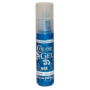 Краска-контур Stamperia Color-Gel KAG01BL тёмно-голубая, 20 мл