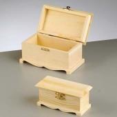 Шкатулка для декупажа деревянная, арт. 1432662, EFCO, 2 шт.: 16х9х8,5 см, 12,5х6х5,5 см