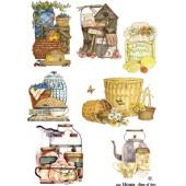 """Декупажная карта """"House Country 5"""" А3, Base of Art, 30 г/м2"""