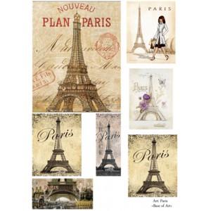"""Декупажная карта """"Paris"""" А3, 42х29,7 см, 30 г/м2, Base of Art"""