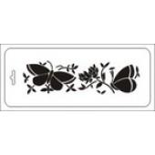 """Трафарет ТИб-фн-001 """"Бабочки и цветочки"""" бордюр, Event Design, 10х25 см"""