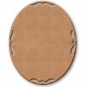 Заготовка Панно из МДФ KF353 овальное для декупажа и росписи, Stamperia, 26х21 см