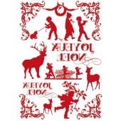 """Переводные изображения """"Transfer"""" DFTR019 новогодние Stamperia, 2 шт., А4, Новый год"""